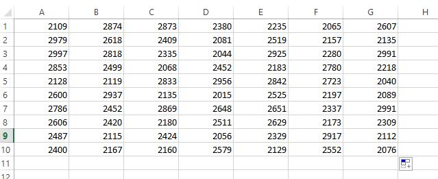 Fonction nombre aléatoire dans Excel
