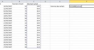 Attribuer le nom des plages dans Excel