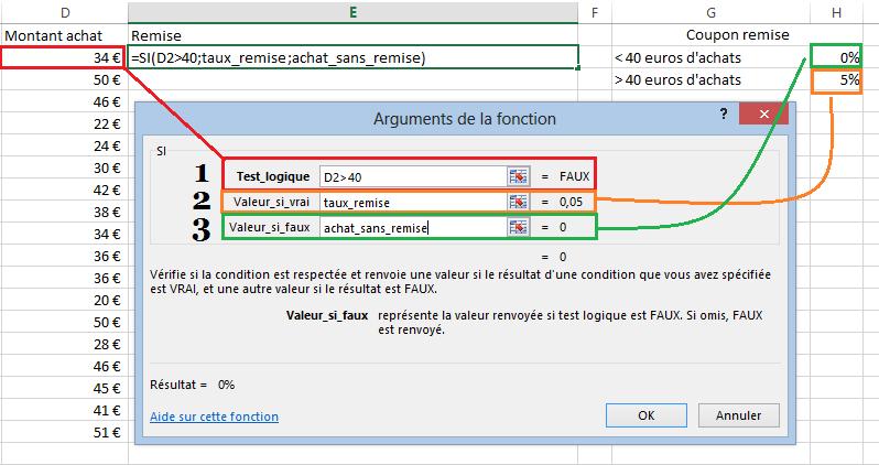 Utiliser la fonction si Excel