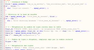 Récupérer les dernières lignes en PHP