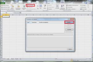 Connexion de la bourse dans Excel