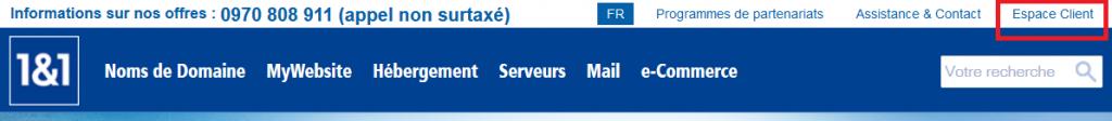 Connexion client pour e-mail