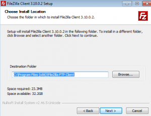 Dossier pour installer Filezilla