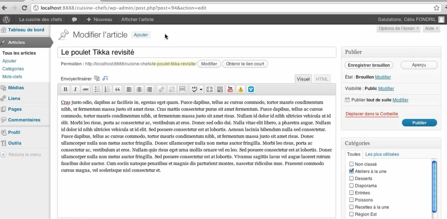 Formation Wordpress pour débutant