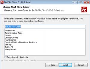 Installer connexion FTP