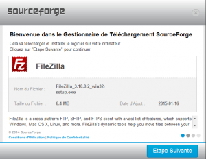 Installation de Filezilla