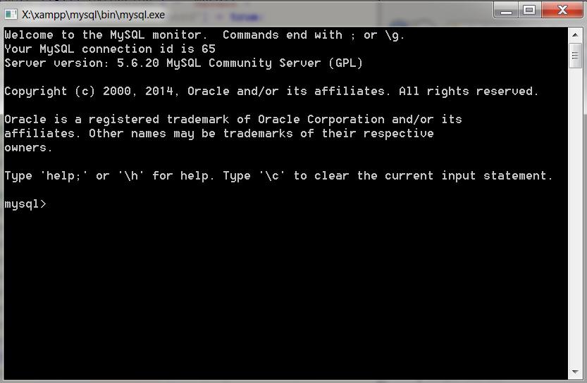 MySQL en ligne de commande