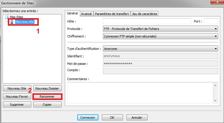 Connexion SFTP avec Filezilla - Utiliser le protocole FTP
