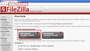 Télécharger Filezilla