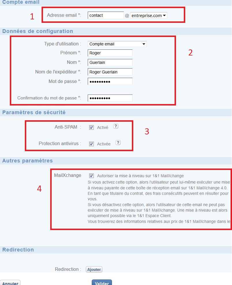 Configurer un compte e-mail
