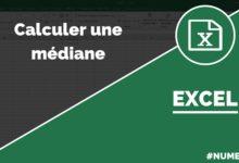 Calculer une médiane dans Excel avec la fonction