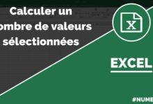 Nombre de valeurs - Fonction NB