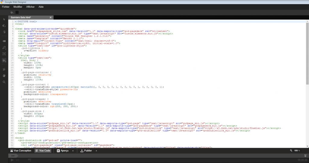 Code Webdesigner