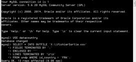 Requête MySQL pour exporter résultat