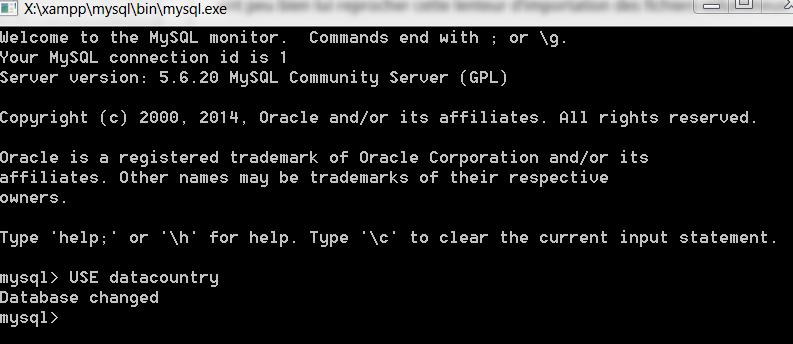 Requête MySQL pour sélectionner une base de données