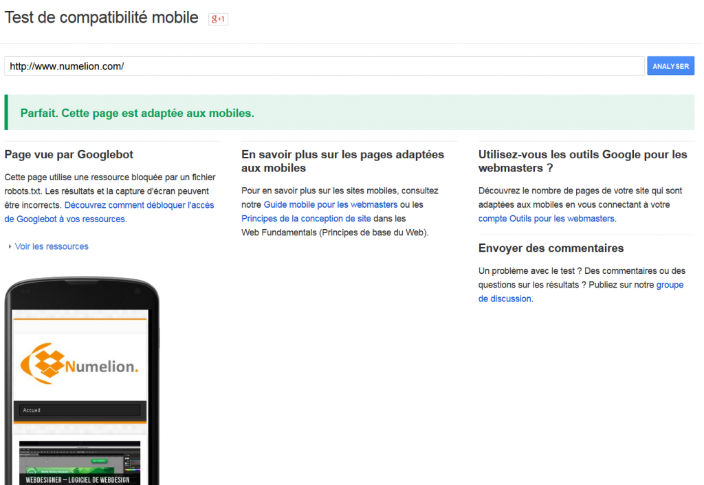 Tester son site internet pour téléphone mobile