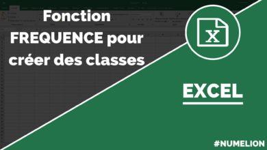 Calculer des classes dans Excel avec la fonction fréquence