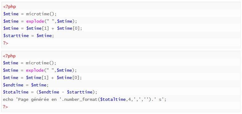 Calculer la durée d'un script PHP
