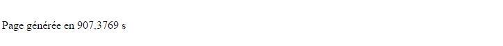Durée d'un script PHP