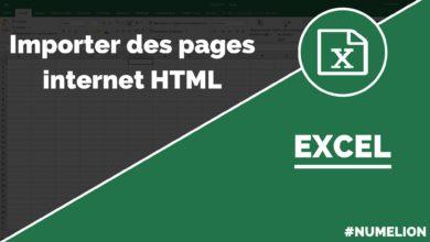 Importer des données d'un tableau HTML dans Excel