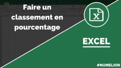 Classement en pourcentage avec Excel et la fonction RANG.POURCENTAGE