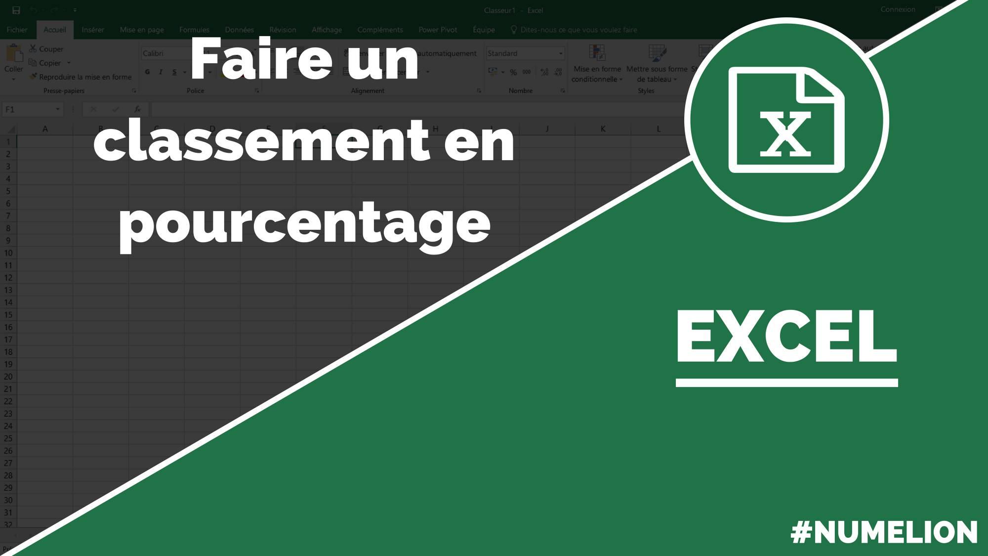 Classement En Avec La Fonction Rang Pourcentage Excel