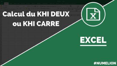 Calcul du Khi Deux dans Excel