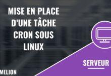 Mise en place d'une tâche cron sous Linux