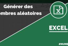 Fonction nombre aléatoire dans Excel (ALEA.ENTRE.BORNES)