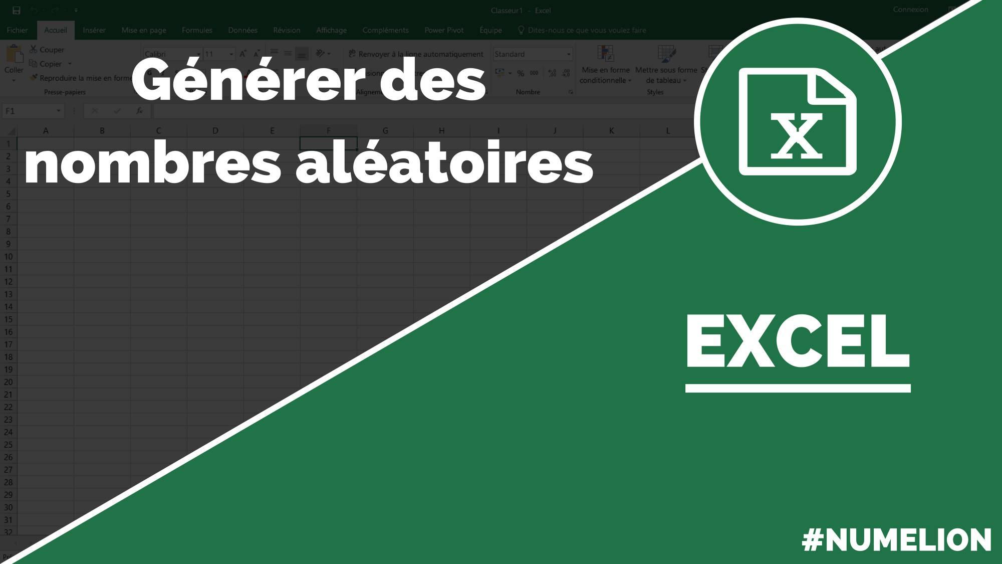 Fonction Nombre Aleatoire Dans Excel Alea Entre Bornes