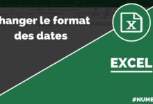 Modifier le format de date dans Excel