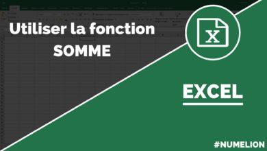 Calculer avec la fonction SOMME dans Excel