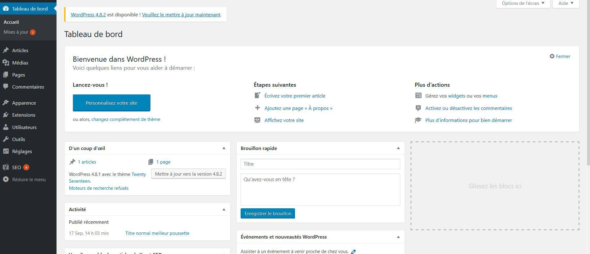 Administration de WordPress