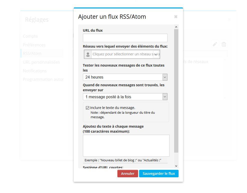 Ajouter un flux RSS à Hootsuite