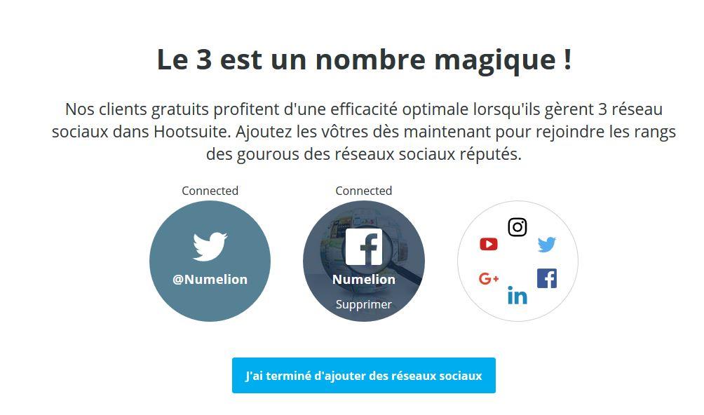 Ajouter des réseaux sociaux à Hootsuite