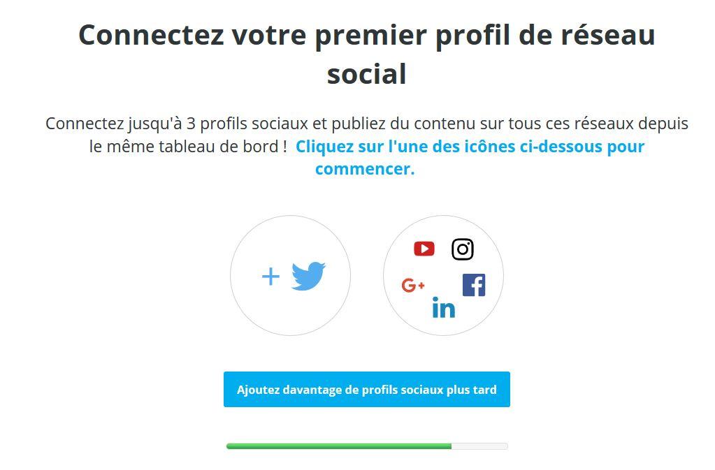 Connecter trois comptes de réseaux sociaux