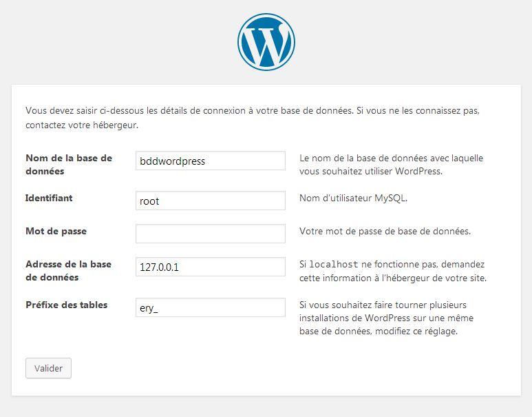 Connexion à la base de données WordPress