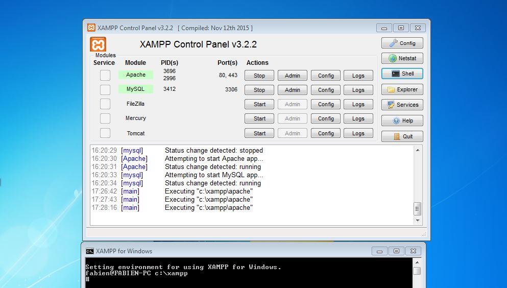 Installation de Xampp