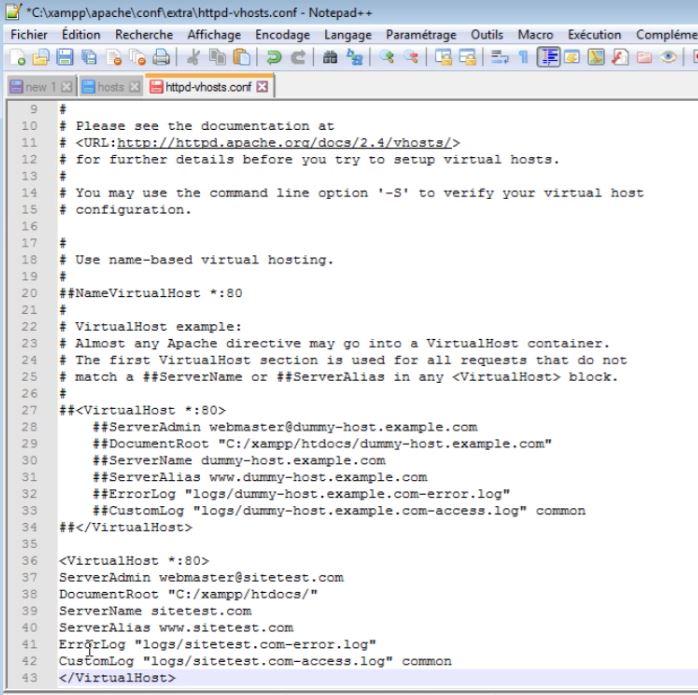 Installer Virtualhost