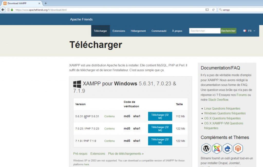 Télécharger Xampp