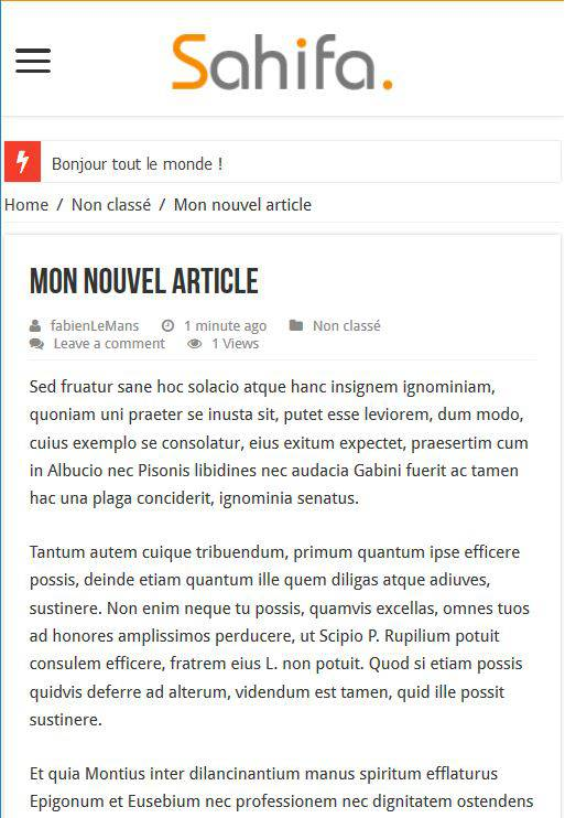 Wordpress et le responsive