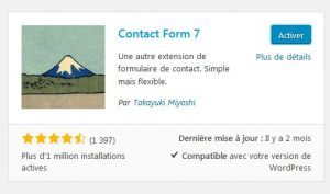 Activer Contact Form 7