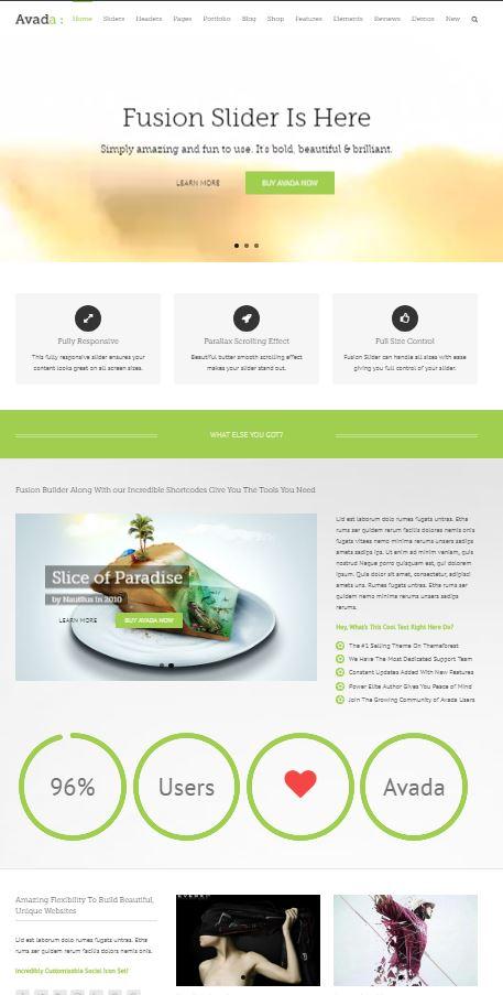 Exemple de page avec texte et images