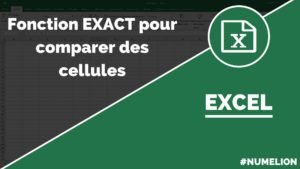 Utiliser la fonction Exact dans Excel