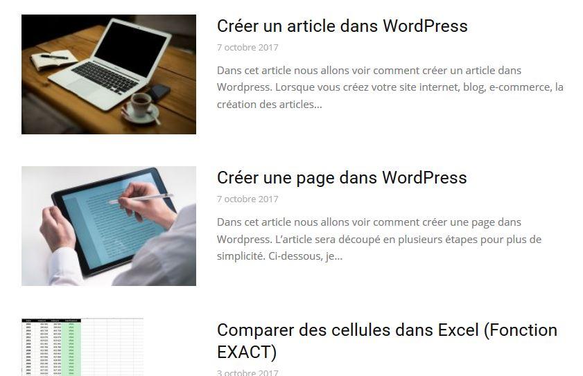 Images à la une dans WordPress