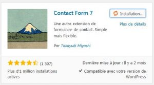Installer Contact Form 7