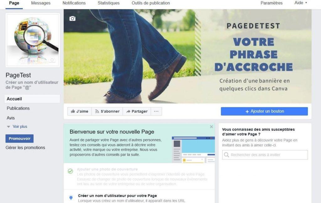 Modifier la bannière d'une page Facebook