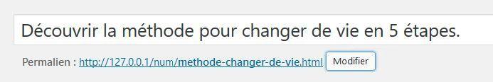 Modifier manuellement les URL