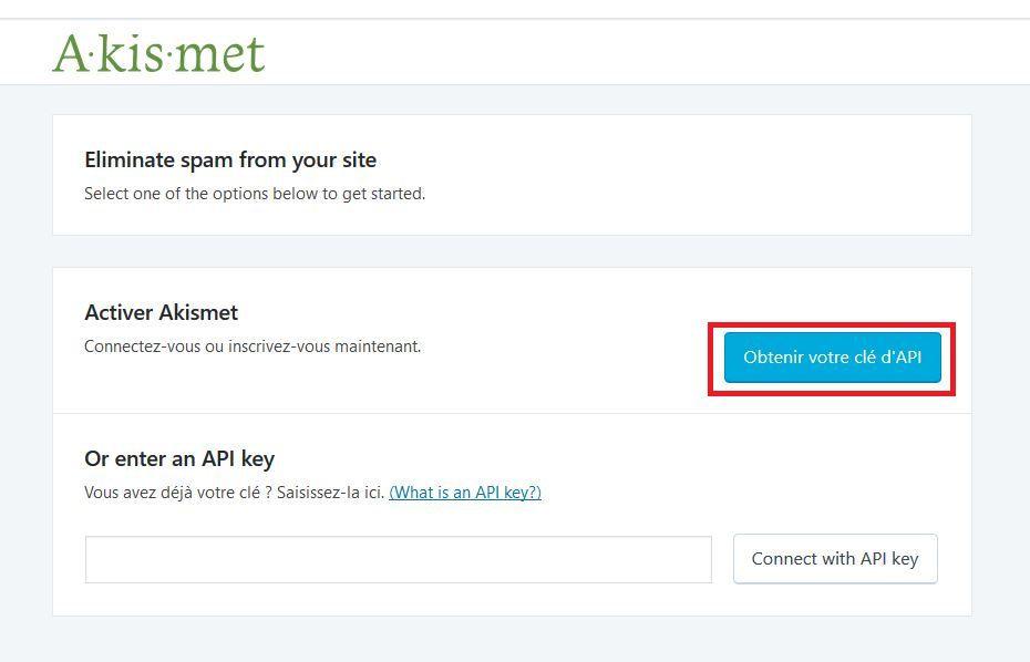 Obtenir une clé API
