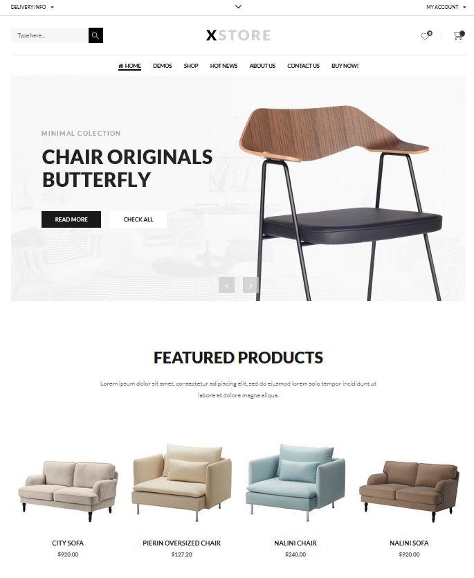 page d'accueil d'un site internet
